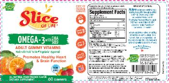Hero Nutritionals Slice Of Life Omega-3 With Chia Seed All Natural Cran-Orange Flavor - supplement