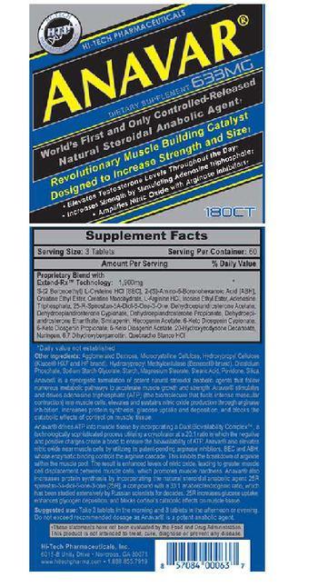 Hi-Tech Pharmaceuticals Anavar - supplement