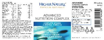 Higher Nature Advanced Nutrition Complex - food supplement