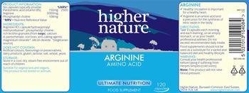Higher Nature Arginine - food supplement
