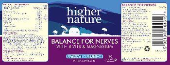 Higher Nature Balance For Nerves - food supplement