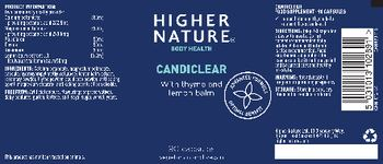 Higher Nature Candiclear - food supplement