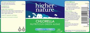 Higher Nature Chlorella - food supplement