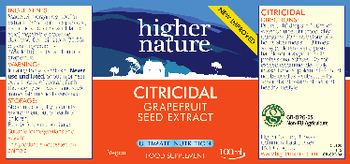 Higher Nature Citricidal Grapefruit Seed Extract - food supplement