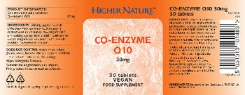 Higher Nature Co-Enzyme Q10 30 mg - food supplement