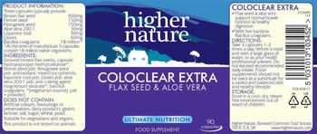Higher Nature Coloclear Extra - food supplement