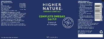 Higher Nature Complete Omegas 3:6:7:9 - food supplement