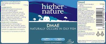 Higher Nature DMAE - food supplement