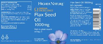 Higher Nature Flax Seed Oil 1000 mg - food supplement