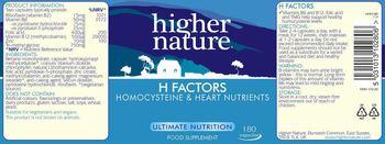 Higher Nature H Factors - food supplement