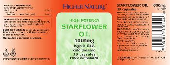 Higher Nature High Potency Starflower Oil 1000 mg - food supplement