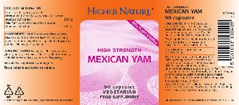 Higher Nature High Strength Mexican Yam - food supplement