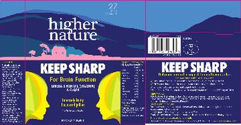 Higher Nature Keep Sharp - food supplement