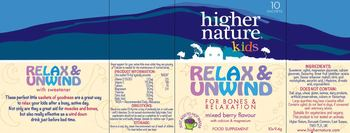Higher Nature Kids Relax & Unwind Mixed Berry Flavour - food supplement