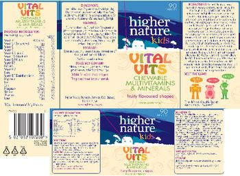 Higher Nature Kids Vital Vits - food supplement