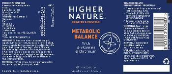 Higher Nature Metabolic Balance - food supplement