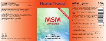 Higher Nature MSM Crystals - food supplement