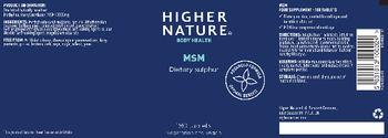 Higher Nature MSM - food supplement