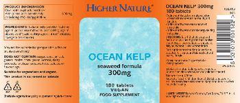 Higher Nature Ocean Kelp 300 mg - food supplement