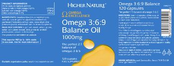 Higher Nature Omega 3:6:9 Balance Oil 1000 mg - food supplement