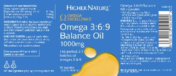 Higher Nature Omega 3:6:9 Balance Oil 1000 mg - food supplement