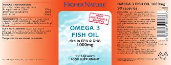 Higher Nature Omega 3 Fish Oil 1000 mg - food supplement