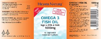 Higher Nature Omega 3 Fish Oil 1000mg - food supplement