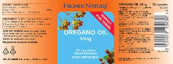 Higher Nature Oregano Oil 50 mg - food supplement