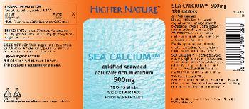 Higher Nature Sea Calcium 500 mg - food supplement