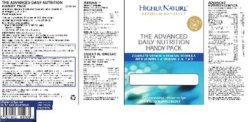 Higher Nature The Advanced Daily Nutrition Handy Pack Advanced Nutrition Complex - food supplement