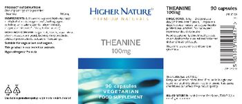 Higher Nature Theanine 100 mg - food supplement