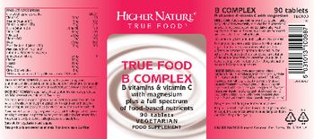 Higher Nature True Food B Complex - food supplement