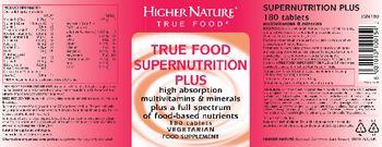 Higher Nature True Food Supernutrition Plus - food supplement