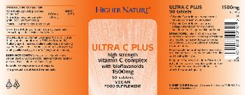Higher Nature Ultra C Plus 1500 mg - food supplement