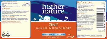 Higher Nature Zinc - food supplement