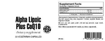 Highland Laboratories Alpha Lipoic Acid Plus CoQ10 - supplement