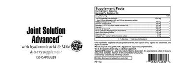 Highland Laboratories Joint Solution Advanced - supplement