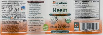 Himalaya Neem - herbal supplement
