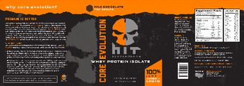 HIT Supplements Core Evolution Whey Protein Isolate Milk Chocolate - supplement