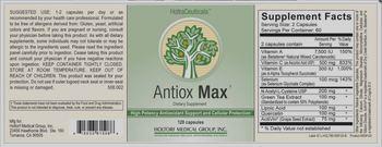 HoltraCeuticals Antiox Max - supplement