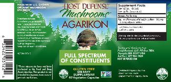 Host Defense Mushrooms Agarikon - supplement