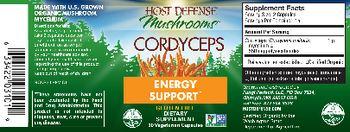 Host Defense Mushrooms Cordyceps - supplement