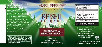 Host Defense Mushrooms Reishi Extract - supplement