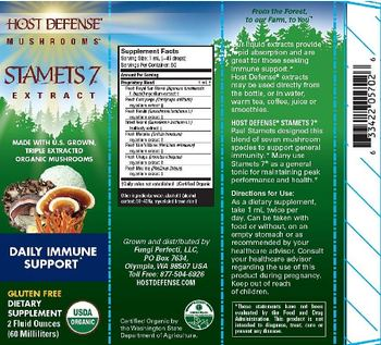 Host Defense Mushrooms Stamets 7 Extract - supplement