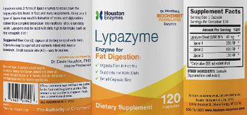 Houston Enzymes Lypazyme - supplement