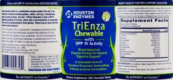 Houston Enzymes TriEnza Chewable with DPP IV Activity - supplement