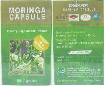 Khaolaor Moringa Capsule - supplement product