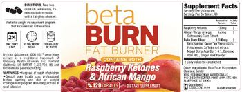 Rightway Nutrition LLC Beta Burn Fat Burner - supplement