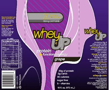Shadow Beverages And Snacks Whey Up Grape -