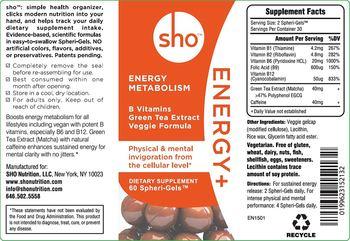 Sho Energy+ - supplement